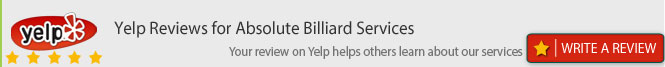 absolute billiards on yelp